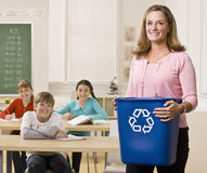 Compartimiento de reciclaje de la explotación agrícola del profesor Imágenes de archivo libres de regalías