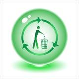 Compartimiento de reciclaje del vector Fotografía de archivo libre de regalías