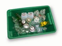 Compartimiento de reciclaje lleno imagen de archivo