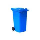 Compartimiento de reciclaje vacío azul Imagen de archivo