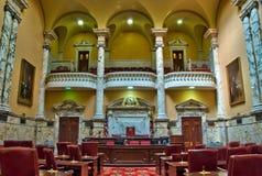 Compartimiento de senado de estado de Maryland en Annapolis Fotos de archivo libres de regalías