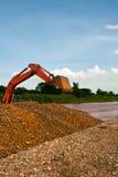 Compartimiento del cargador de excavador Foto de archivo libre de regalías