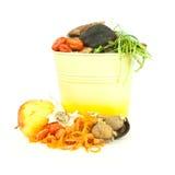 Compartimiento del estiércol vegetal de la cocina Imagen de archivo libre de regalías