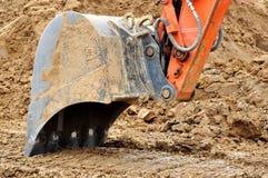Compartimiento del excavador. imagenes de archivo