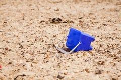 Compartimiento en la playa Imagenes de archivo