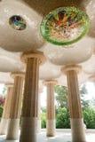 Compartimiento hipóstilo de Antonio Gaudi Foto de archivo libre de regalías