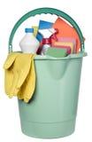 Compartimiento llenado de las herramientas de la industria de la limpieza Foto de archivo libre de regalías