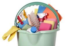 Compartimiento llenado de las herramientas de la industria de la limpieza Fotografía de archivo libre de regalías