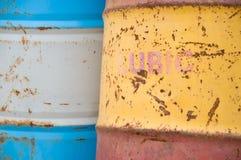 Compartimiento viejo del petróleo Imagen de archivo