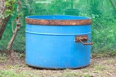 Compartimientos azules Imagen de archivo libre de regalías