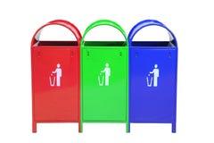 Compartimientos coloreados Imagen de archivo libre de regalías