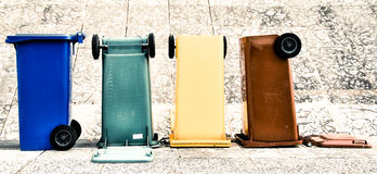 Compartimientos coloreados Trento Italia Imagen de archivo