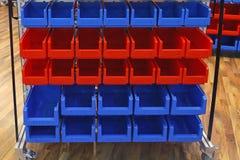 Compartimientos de almacenamiento Foto de archivo libre de regalías