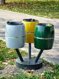 Compartimientos de basura Fotografía de archivo