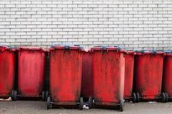 Compartimientos de basura Imagenes de archivo