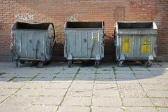 Compartimientos de basura Imagen de archivo libre de regalías