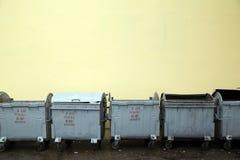 Compartimientos de la basura Imagen de archivo libre de regalías