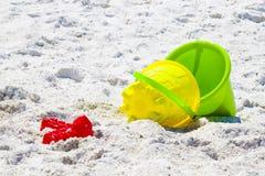Compartimientos de la playa Foto de archivo libre de regalías