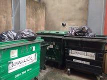 Compartimientos de los desperdicios Imagen de archivo
