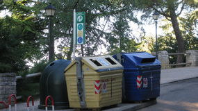 Compartimientos de los desperdicios Fotos de archivo