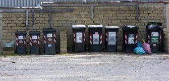 Compartimientos de los desperdicios de la basura tóxica Foto de archivo libre de regalías