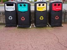 Compartimientos de reciclaje Imagen de archivo