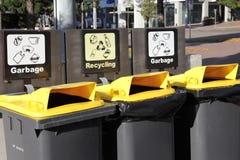 Compartimientos de reciclaje Fotos de archivo