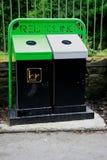Compartimientos de reciclaje Foto de archivo