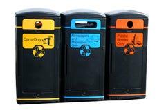Compartimientos de reciclaje Imágenes de archivo libres de regalías