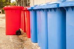 Compartimientos del rojo azul Foto de archivo