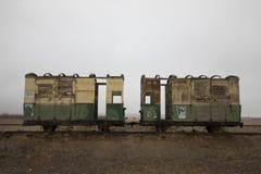 Compartimientos del tren del indicador estrecho Fotografía de archivo