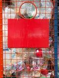 Compartimientos para la basura del plástico Foto de archivo libre de regalías