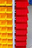 Compartimientos plásticos Imágenes de archivo libres de regalías
