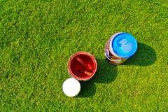 Compartimientos rojos y azules del color Fotos de archivo libres de regalías