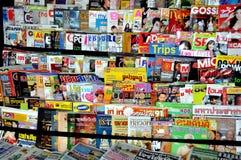 Compartimientos tailandeses en el quiosco de periódicos Imagen de archivo libre de regalías