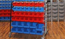Compartimientos y tinas de almacenamiento Imagen de archivo