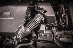 Compartment of car engine Stock Photography