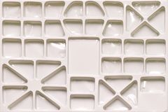 Compartment Tray. Empty Compartment White Plastic Tray stock images
