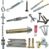 Compartments for different types of hardware. On white background Royalty Free Stock Image
