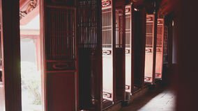 Compartments in Temple of Literature in Hanoi Royalty Free Stock Photography
