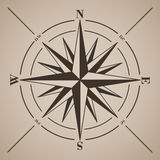 Compas上升了 也corel凹道例证向量 库存图片