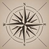 Compas подняло также вектор иллюстрации притяжки corel Стоковое Изображение
