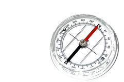 Compas. Simple compass isolated on white royalty free stock photos