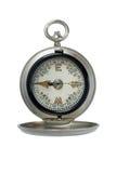 Compas argenté antique Image libre de droits