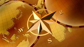Compas aumentou ilustração royalty free