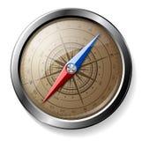 Compas détaillé en acier Photo stock