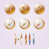 Compas d'or Photos libres de droits