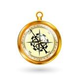 Compas d'or Photos stock