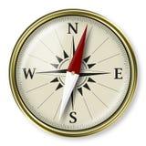 Compas d'or, concept stratégique de plannig Photos stock