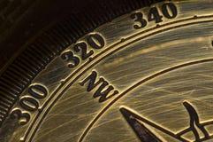 Compas d'or de vieux type Image libre de droits